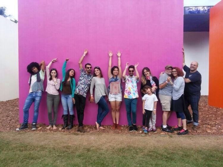 Equipe da Casa em viagem de pesquisa em Inhotim - MG