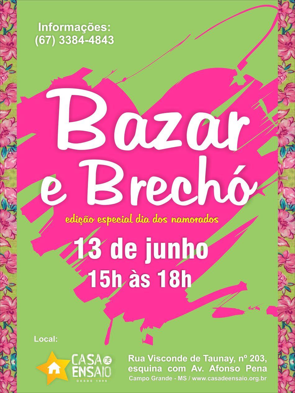 convite bazar  - Junho