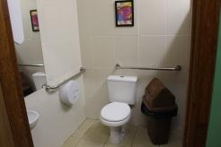 Banheiro feminino com acesso para cadeirantes
